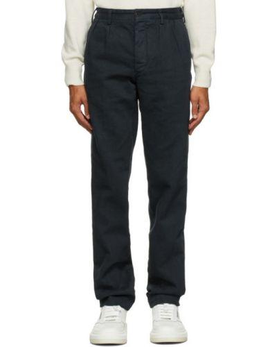 Брючные прямые черные прямые брюки с поясом Doppiaa