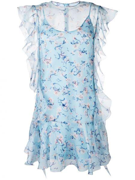 Свободное синее платье мини свободного кроя Ermanno Scervino