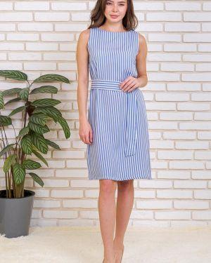 Платье с поясом в полоску из штапеля Lika Dress