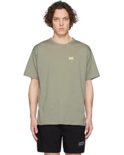 Czarny t-shirt bawełniany krótki rękaw Martin Asbjorn