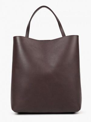 Коричневая кожаная сумка Ecco