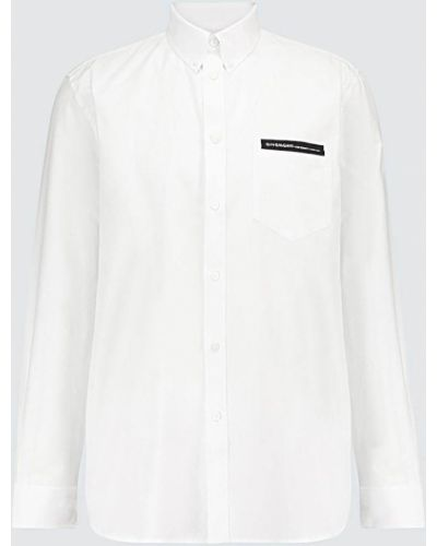 Biała koszula oxford bawełniana zapinane na guziki Givenchy