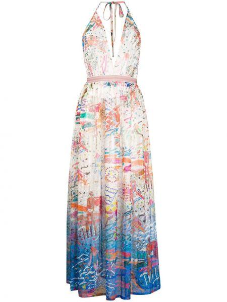 Платье миди с открытой спиной на бретелях Missoni Mare