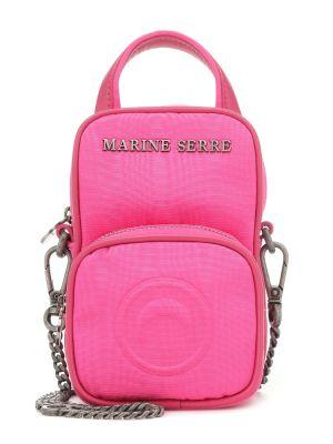 Кожаная сумка через плечо - розовая Marine Serre