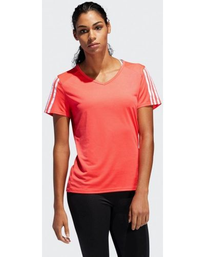 Поло красное Adidas