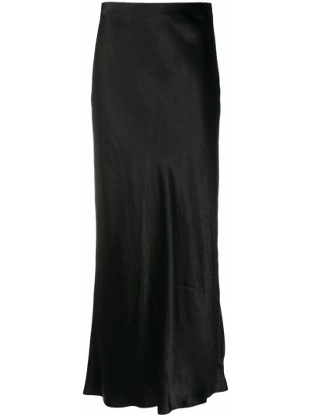 С завышенной талией прямая черная юбка миди Vince.