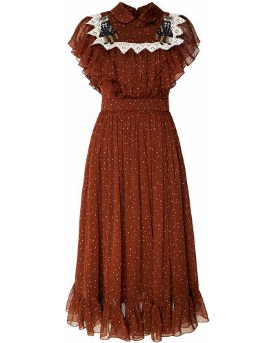 Платье миди в горошек коктейльное Alena Akhmadullina