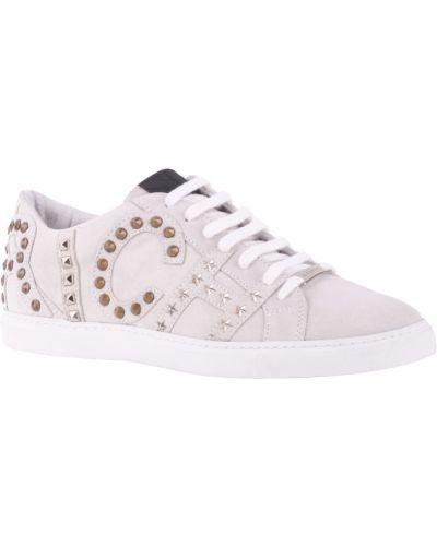 Белые кроссовки замшевые Richmond