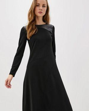 Повседневное платье осеннее черное Dkny