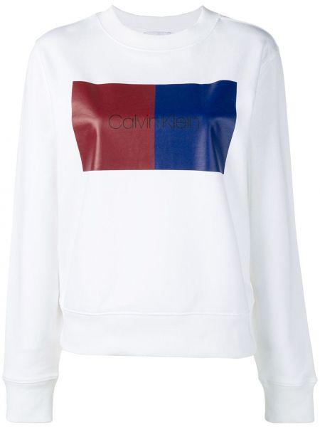 Хлопковая белая толстовка Calvin Klein