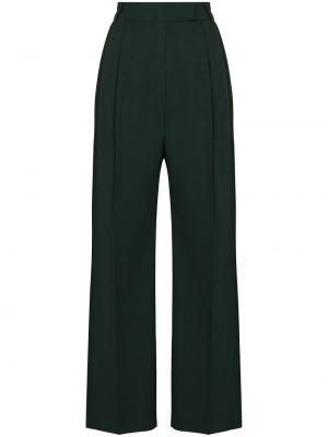 Зеленые брюки с карманами Frankie Shop