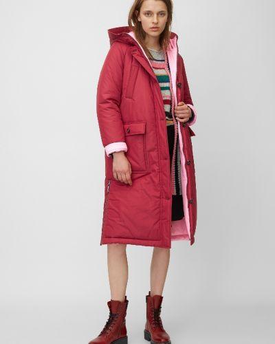 Утепленная красная куртка на молнии Marc O' Polo