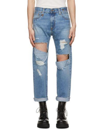 Прямые синие джинсы стрейч R13