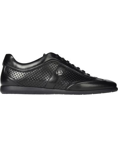 Черные кроссовки с перфорацией Roberto Cavalli