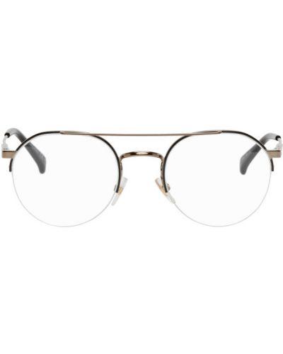 Черные солнцезащитные очки круглые прозрачные Givenchy