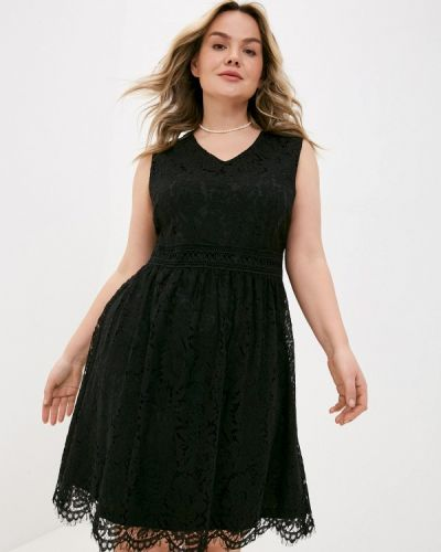 Повседневное черное платье Ulla Popken