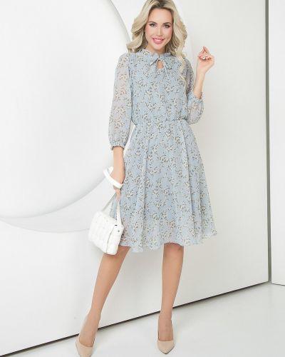 Приталенное повседневное шифоновое платье Diolche