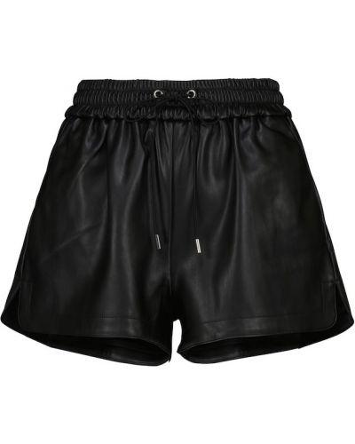 Черные кожаные шорты Frankie Shop