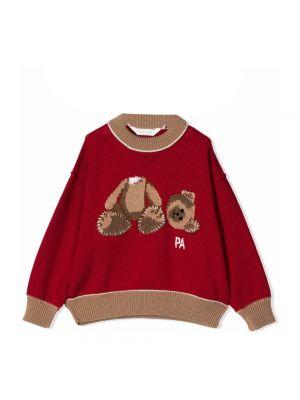 Sweter oversize - czerwony Palm Angels