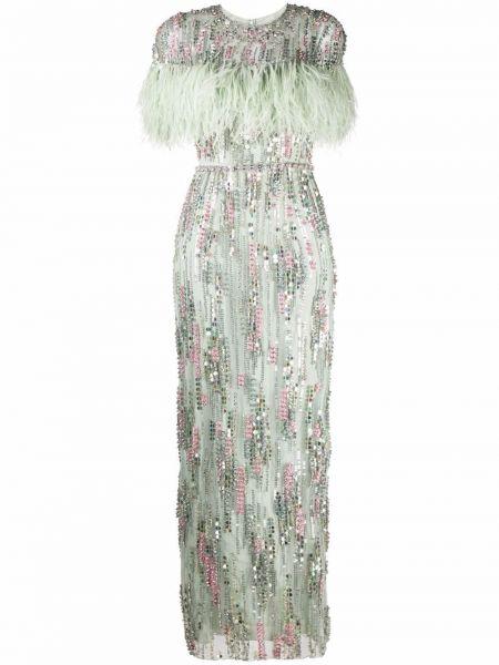 Zielona sukienka krótki rękaw Jenny Packham