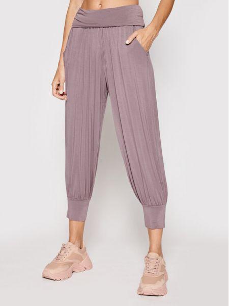 Fioletowe spodnie dresowe Deha