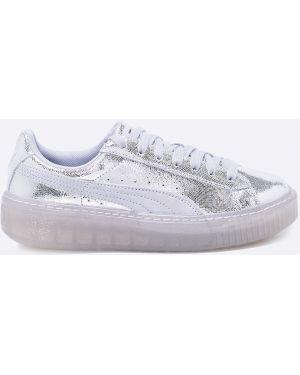 Кроссовки на платформе серебряного цвета Puma