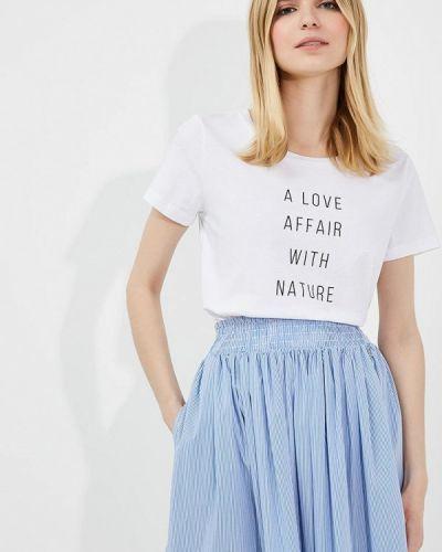 Белая футболка Woolrich