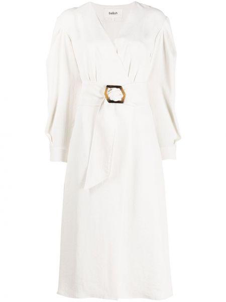 Платье макси с длинными рукавами с V-образным вырезом на пуговицах с манжетами Ba&sh