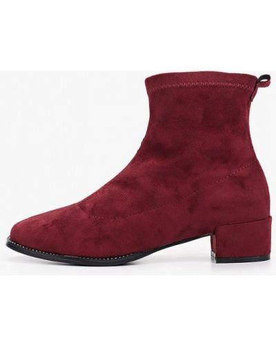 Туфли на каблуке бордовый велюровые Ws Shoes