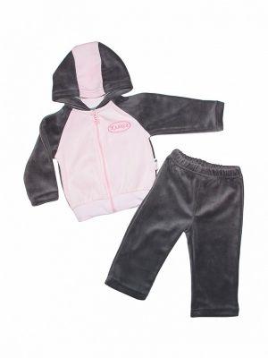 Спортивный костюм серый розовый клякса