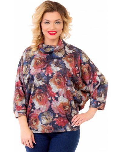 Кофта свободного кроя с цветочным принтом Liza Fashion