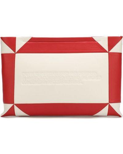 Кожаный сумка вечерняя на молнии Calvin Klein 205w39nyc