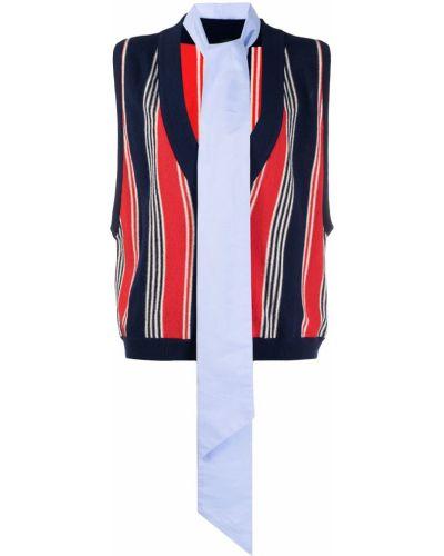 Трикотажный пуловер с V-образным вырезом без рукавов Jejia