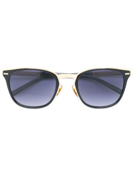 Złote czarne okulary Sama Eyewear