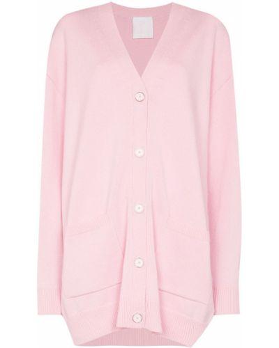 Różowy sweter z dekoltem w serek Givenchy