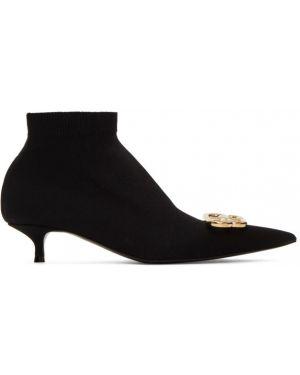 Сапоги на шпильке сапоги-чулки черные Balenciaga