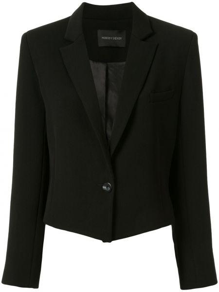 Джинсовая куртка черная на пуговицах Nobody Denim