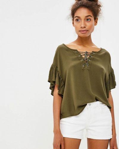 Блузка зеленый весенний Piazza Italia