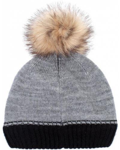 Зимняя шапка с помпоном теплая Playtoday Long Size