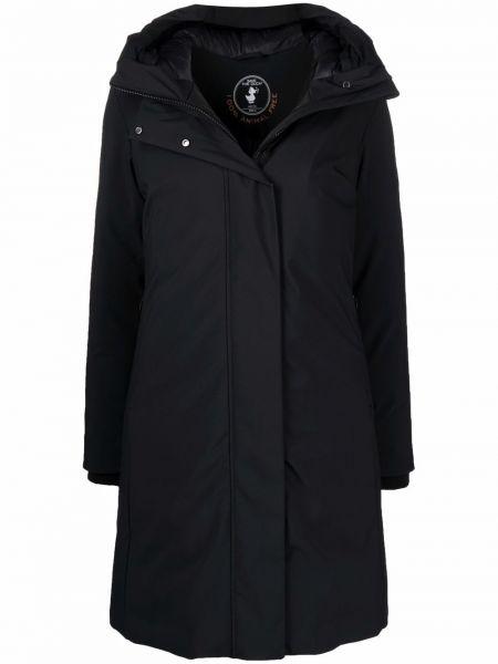 Черное пальто длинное Save The Duck