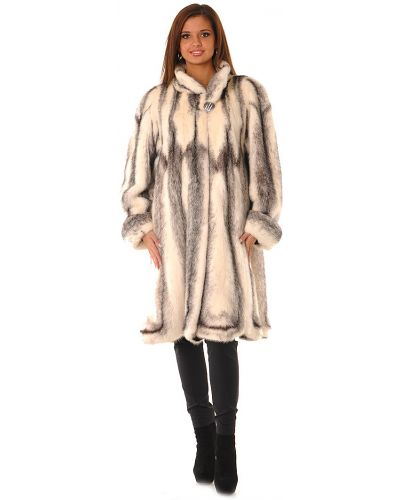 Норковая шуба - белая Saga Furs