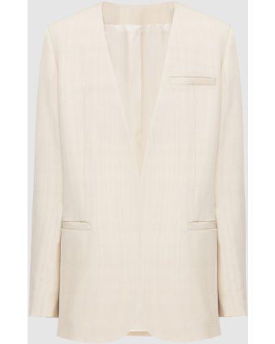 Бежевый пиджак с V-образным вырезом Toteme