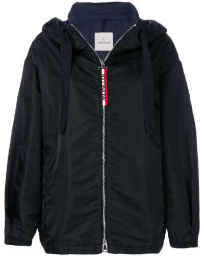 Куртка с капюшоном длинная с вышивкой с логотипом Moncler