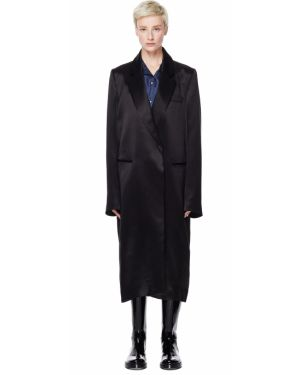 Прямое пальто - черное Ann Demeulemeester