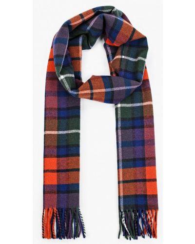 Синий шарф осенний Gant