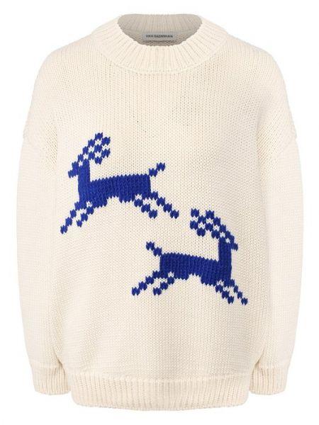 Бежевый акриловый свитер Vika Gazinskaya
