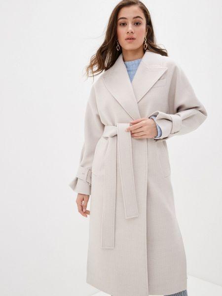 Бежевое пальто с капюшоном Giulia Rosetti