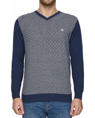 Хлопковый пуловер - синий Navigare