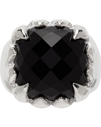 Czarny pierścionek srebrny Stolen Girlfriends Club