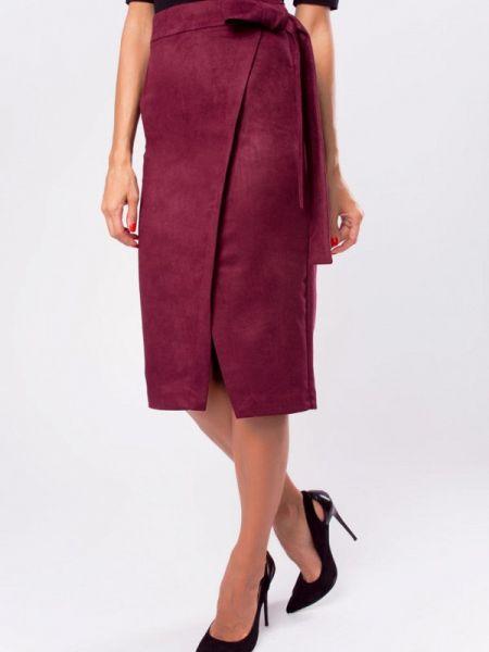 Бордовая юбка Kotis Couture
